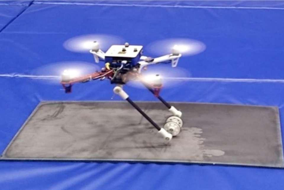 Drone placing a sensor