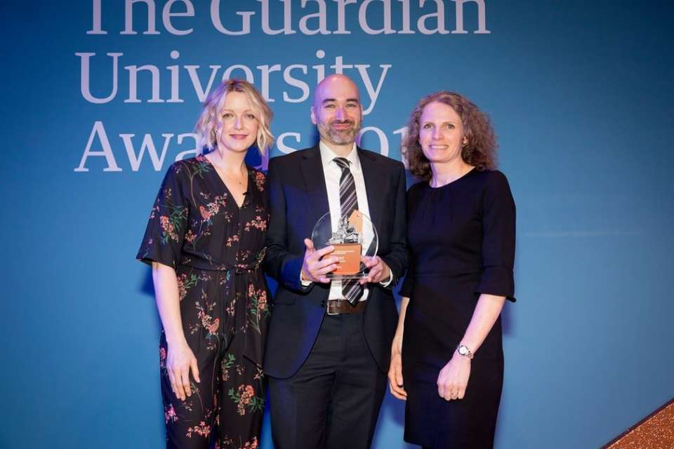 Professor Helen Hastie from Heriot-Watt University collected the award on behalf of the ORCA HUB, along with project partner Dr. Michael Mistry from the University of Edinburgh.