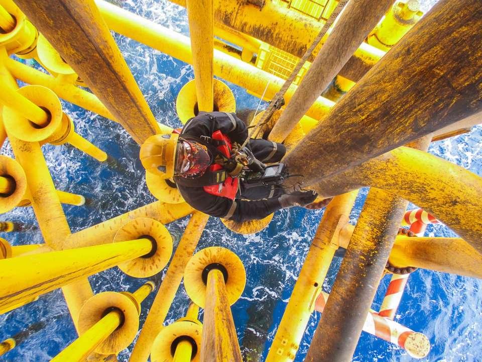 Oil rig worker.